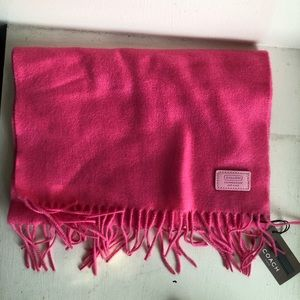 NWT Coach Pink Cashmere Scarf